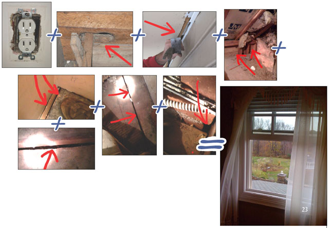 how to find air leaks in house