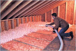 Insulation materials spray foam insulation fiberglass for Loose fill fiberglass insulation