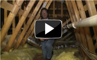 Insulating attics with spray foam