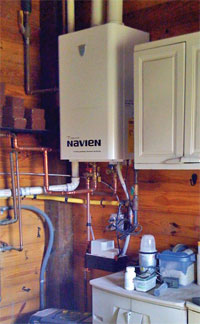 Small tankless water heater